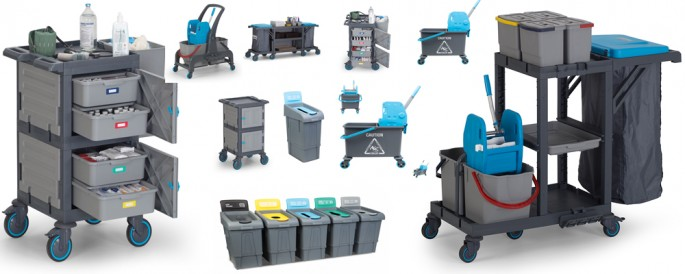 Mops Carts Trolleys and Bucket