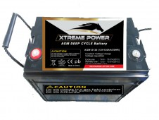 Maintenance Free Battery AGM12130 : 12V, 130 AH